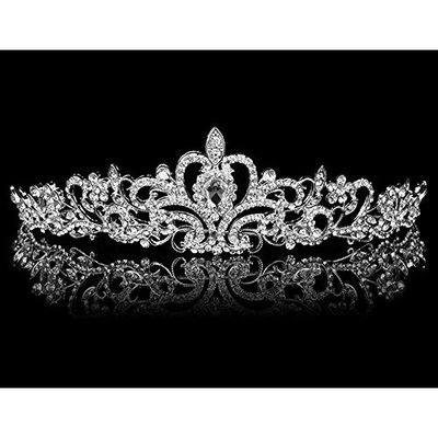 Angel Isabella Quality Sparkle Bridal Wedding Rhinestone Tiara Hairpiece Crown