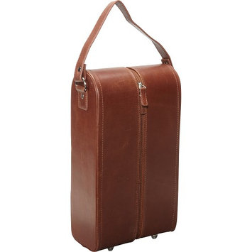 Amerileather - Leather Double Wine Case Holder - Brown