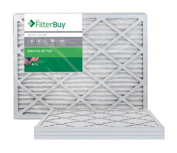 AFB Silver MERV 8 24x28x1 Pleated AC Furnace Air Filter. Filters. 100% produced in the USA. (Pack of 4)