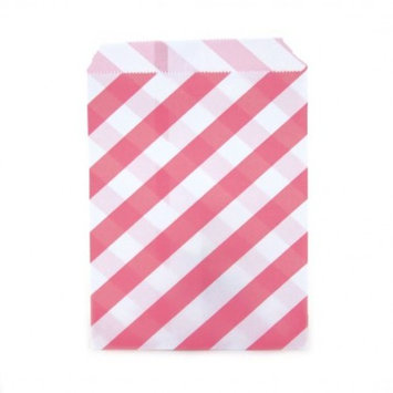 Dress My Cupcake 24-Pack Party Favor Bags, Striped, Bubblegum Pink