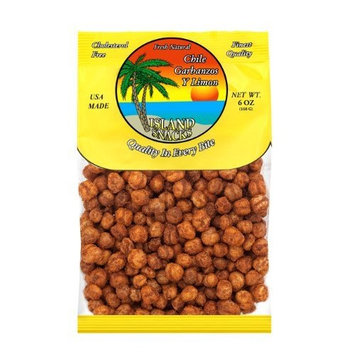 Island Snacks Chile Garbanzos, 6-Ounce (Pack of 6)