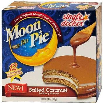 Moon Pie Salted Caramel Single Decker Marshmallow Sandwich, 12 count per pack - 8 per case.