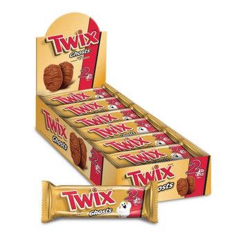 Mars Chocolate Twix Ghosts 2-To-Go Chocolate Singles Cookies, 2.12 oz, 24 count
