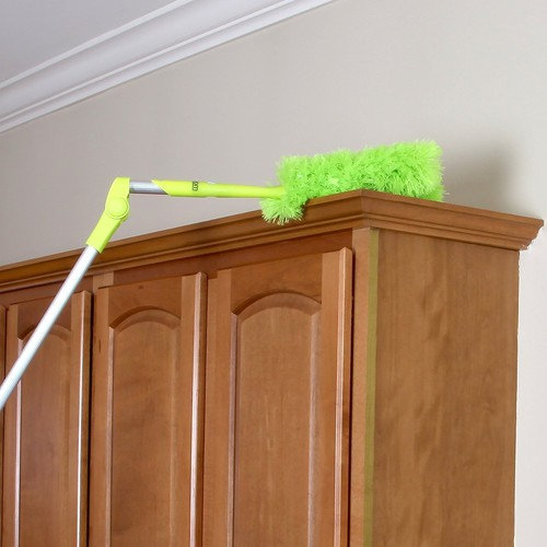"""Homiom Microfiber Duster Extendable 62"""" - Soft, Fluffy, Washable, Lint free"""