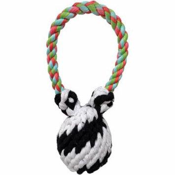 Super Scooch Squeaker Bear Rope Tug Dog Toy, 8