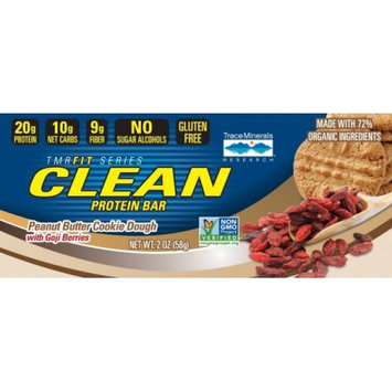 Trace Minerals TMRFIT SERIES CLEAN Protein Bar Peanut Butter with Goji Berries Box Trace Miner