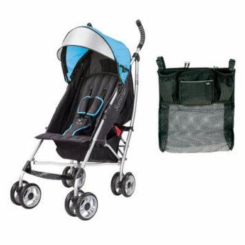 Summer Infant 3D Lite Convenience Stroller with Parent Tray Organizer, Caribbean Blue