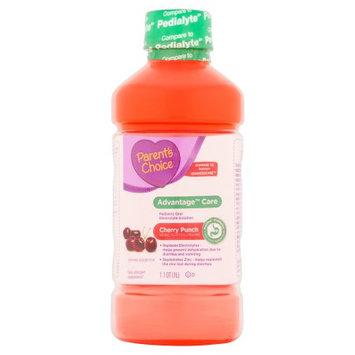 Parents Choice Parent's Choice(tm) Advantage(tm) Care Cherry Punch Pediatric Oral Electrolyte Solution, 1 l