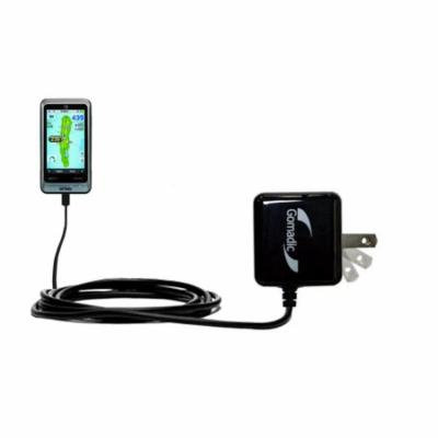 Gomadic Intelligent Compact AC Home Wall Charger suitable for the Golf Buddy PT4 - High output power with a convenient, foldable plug design - Uses Ti