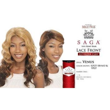 SAGA 100% REMY HUMAN HAIR LACE FRONT WIG - INVISIBLE PART - VENUS - GF27/30/613