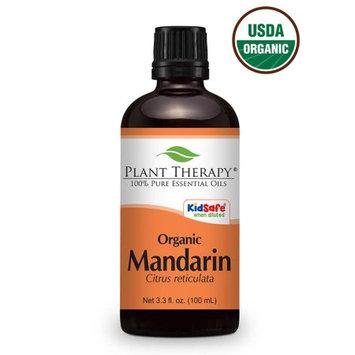 Plant Therapy Organic Mandarin Essential Oil 100 mL (3.3 fl. oz.) 100% Pure, Undiluted, Therapeutic Grade