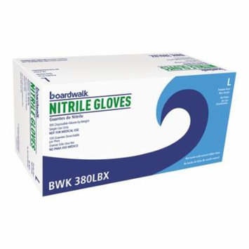 Boardwalk General-Purpose Nitrile Gloves, Large, Blue, 100 count, (Pack of 10) -BWK380LCT