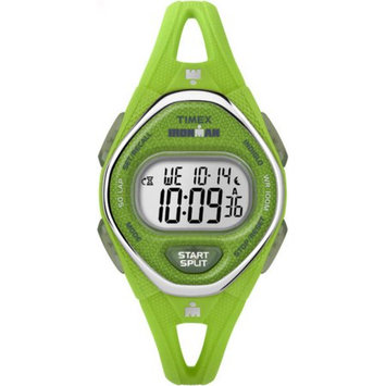Timex - Ironman Sleek 50 Mid-Size Silicone Strap (Green/Silver Tone) Watches