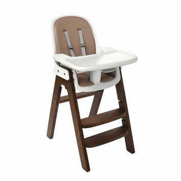 OXO Tot Sprout Chair with Tray Cover, Gray/Walnut [Taupe/Walnut]