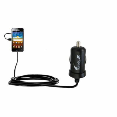 Gomadic Intelligent Compact Car / Auto DC Charger suitable for the Samsung I8150 - 2A / 10W power at half the size. Uses Gomadic TipExchange Technolog