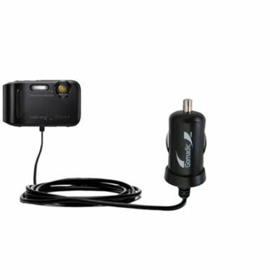 Gomadic Intelligent Compact Car / Auto DC Charger suitable for the Sony DSC-TF1 - 2A / 10W power at half the size. Uses Gomadic TipExchange Technolog