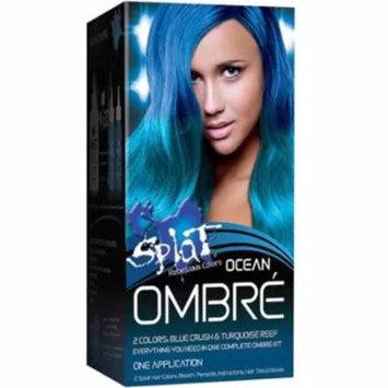 Splat Rebellious Colors Hair Coloring Complete Kit, Ocean Ombre 1 ea (Pack of 3)