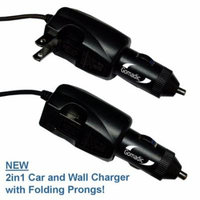 Intelligent Dual Purpose DC Vehicle and AC Home Wall Charger suitable for the Magellan Roadmate 5230 / 5220 T LM - Two critical functions, one unique