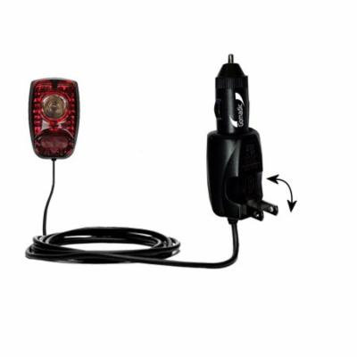 Intelligent Dual Purpose DC Vehicle and AC Home Wall Charger suitable for the Cygolite Hotshot - Two critical functions, one unique charger - Uses Gom