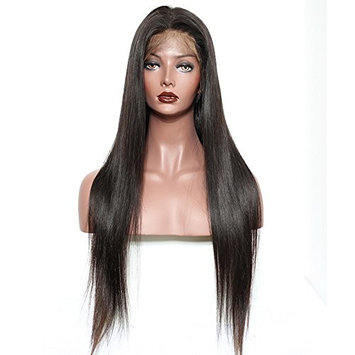 CCOLLEGE Hair 8A Grade Full Lace Frontal Wigs Straight Wave For Black Women Malaysian Virgin Hair Natural Color