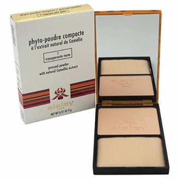 Sisley Phyto Poudre Compacte Pressed Powder, No. 1 Transparent Mate, 0.31 Ounce
