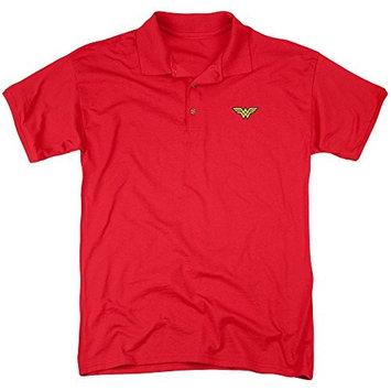 Jla/Embroidered Wonder Mens Regular Fit Polo Red Jla547