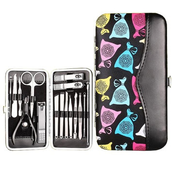 Manicure Pedicure Set Nail Clippers - 16 in 1 Stainless Steel Professional Pedicure Kit Nail Scissors Grooming Kit