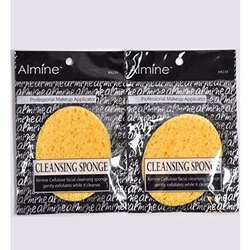 (PACK OF 6) ALMINE CELLULOSE FACIAL CLEANSING EXFOLIATING SPONGE : Beauty