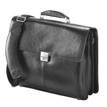 Falcon Leather Case for 16-Inch Laptop - Black