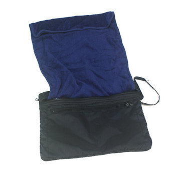 Simplicity Travel Size WashCloth and Toiletry Bag Combo, Navy Blue