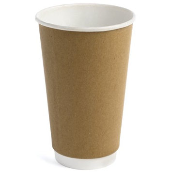Earth's Natural Alternative Double Wall Kraft Paper Hot Coffee Cup, 16 Oz, 50 Ct
