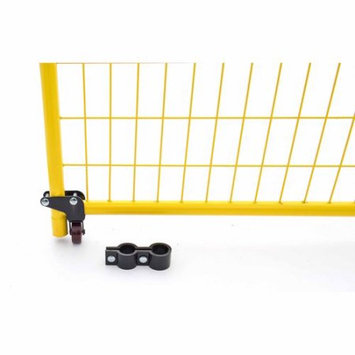 Perimeter Patrol 4 in. H x 1 in. W Powder-Coated Steel Swing Gate Wheel for Temporary Fencing