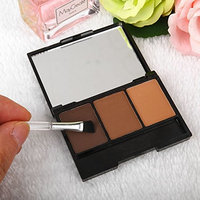 Fdrirect Eyebrow Powder With Brush Shadow Eye Brow Palette Makeup Natural Charms