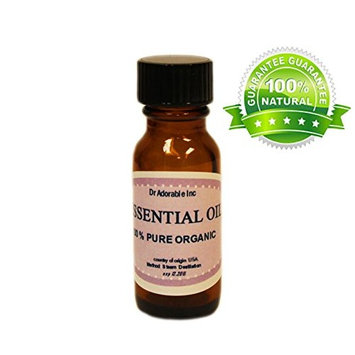 Melissa Essential Oil by Dr.Adorable 100% Pure Organic 0.6 Oz/18 Ml