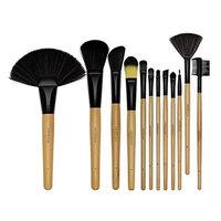 12PCS Makeup Brush Set Premium Wooden Handle Cruelty-Free Synthetic Foundation Blending Blush Concealer Eye Shadow Eyeliner Face Lip Powder Liquid Cream Brush Tool
