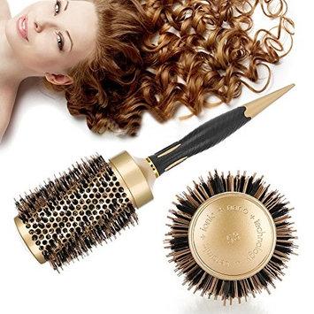 Ceramic Hair Round Brush, Professional Anti-static Round Hair Comb Salon Styling Brush Twill Nylon Broach