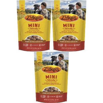 Zuke's Mini Naturals Dog Treats Peanut Butter & Oats 3lb (3 x 16oz)