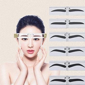 Creazy Magnetic Microblading Makeup Brow Measure Eyebrow Guide Ruler Permanent Tools