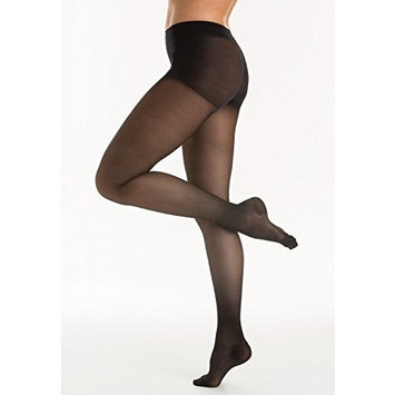 20-30 mmHg Firm Compression Pantyhose, Graduated Compression & Support Hosiery Fine Italian Made Fashionable Stockings (Size 9 Black)