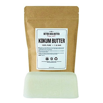 Kokum Butter for Soap, Lip Balms, Lotions and other DIY Skin Care Products by Better Shea Butter - 1LB