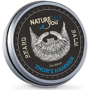 NATUREALLY YOU© - Beard Balm - Thor's Hammer Scent - (2 oz) - Condition, Smooth, Soften, Tame, Remove Beard Itch