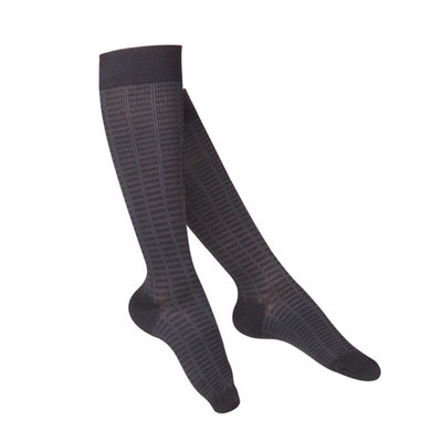 Touch Women's Compression Socks, Knee High, Pattern Knit, 15-20 mmHg, Black, Large