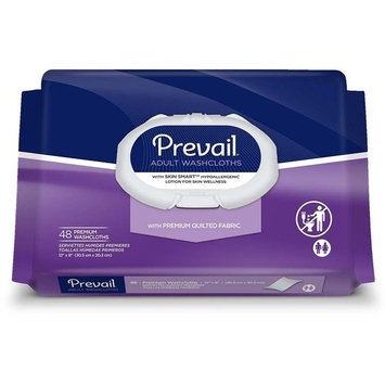 Prevail Premium Quilted Washcloths, Softpack - Pack of 48