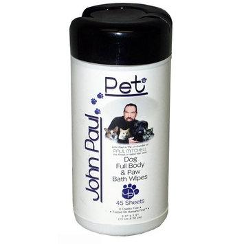 John Paul Pet Dog Full Body and Paw Bath Wipes