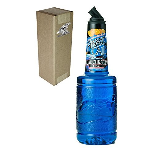 Finest Call Premium Blue Curacao Drink Mix, 1 Liter Bottle (33.8 Fl Oz), Individually Boxed