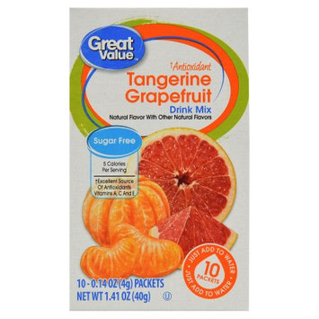 Wal-mart Stores, Inc. Great Value Vitamin Enhanced Fitness Drink Mix, Grapefruit, 10 Count