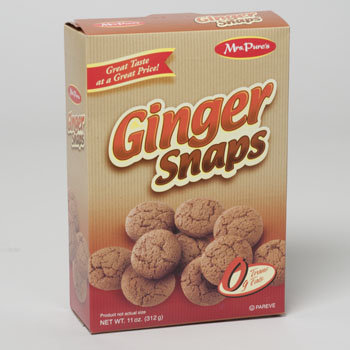 Dollaritemdirect COOKIES BOXED GINGER SNAPS 11 OZ MRS. PURES, Case Pack of 12