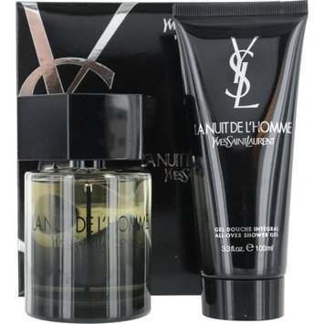 LA NUIT DE L'HOMME YVES SAINT LAURENT by Yves Saint Laurent EDT SPRAY 3.4 OZ & ALL OVER SHOWER GEL 3.3 OZ (TRAVEL OFFER)
