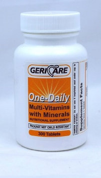 Multivitamin Supplement GeriCare 5000 IU / 50 mg Strength Tablet 300 per Bottle Case of 12 Bottles