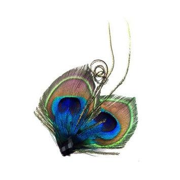 Peacock Feather Side Hair Clip